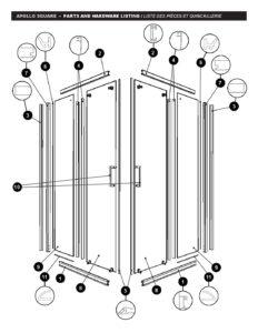 Apollo Square Parts List Schicker Luxury Shower Doors