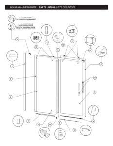 Novara In Line Parts List Schicker Luxury Shower Doors