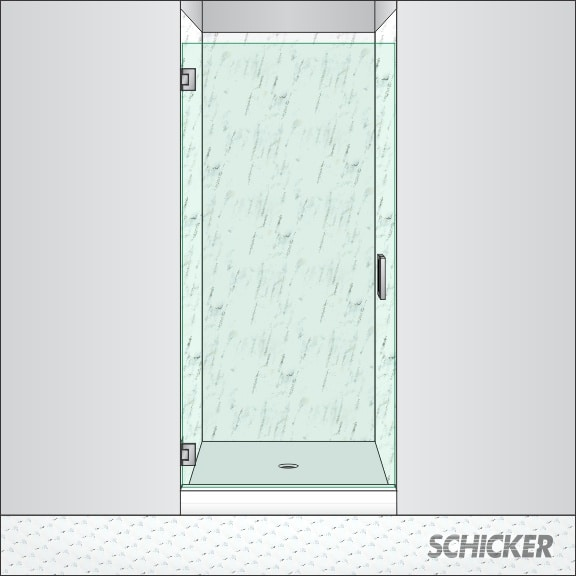 All Glass Shower Doors Single Pivot Ag90