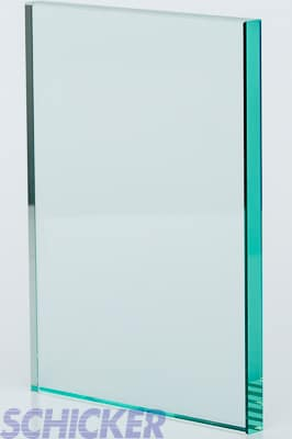 """Clear 1/2"""" glass sample"""