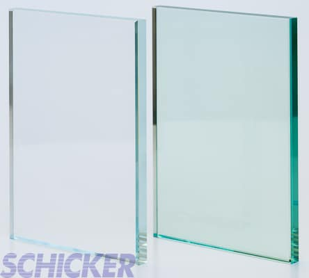 """Clear vs Crystal Clear 1/2"""" glass samples"""