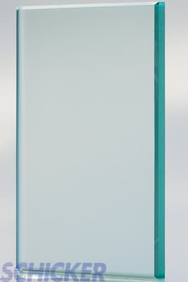 "Satin 3/8"" glass sample"