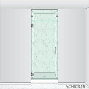 AGS90 single shower door for steam enclosures