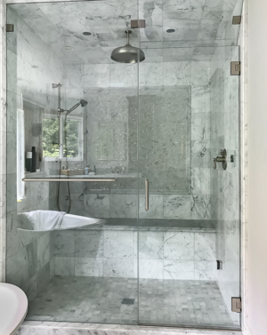 AGS91 Steam In-line Shower Enclosure with transom