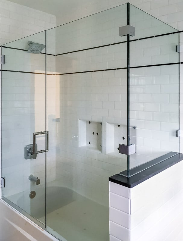 All-Glass Shower Doors | 2 Sided Tub | AG93