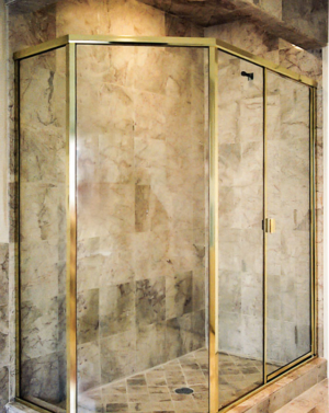 BF94X Neo-angle Brass Frame Shower Enclosure