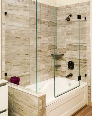Schicker AG41 2-Sided Frameless Tub Enclosure