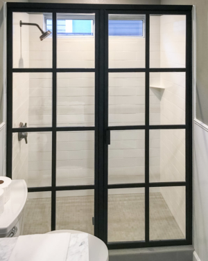 BF91 In-line Framed Gridded Shower Enclosure