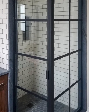BF2 2-Sided Gridded Shower Enclosure
