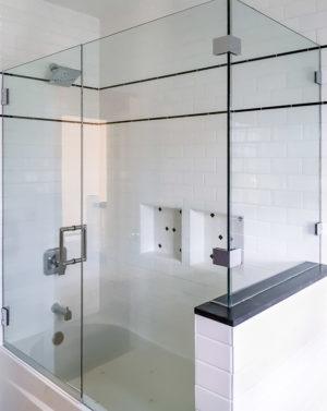 Schicker AG83 2-Sided Frameless Tub Enclosure