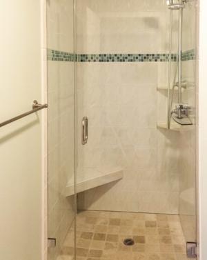 Schicker AG91 In-line Frameless Shower Enclosure
