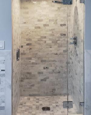 Schicker AG91PH In-line Frameless Shower Enclosure