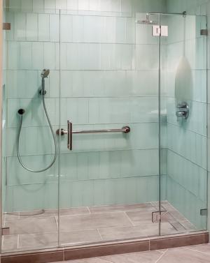 Schicker AG91PHX In-line Frameless Shower Enclosure