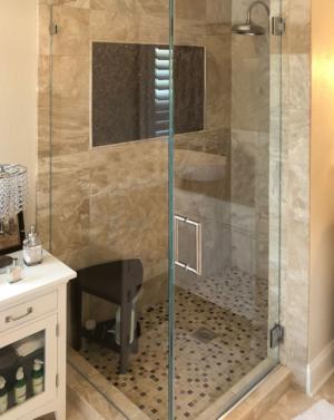 Schicker AG92 2-Sided Frameless Shower Enclosure