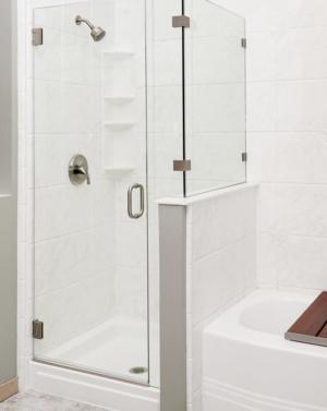Schicker AG93 2-Sided Frameless Shower Enclosure