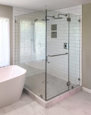Schicker AG93PH 2-Sided Frameless Shower Enclosure