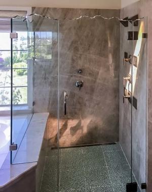 Schicker AG93PHX 2-Sided Frameless Shower Enclosure with Broken Edge