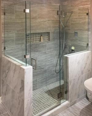 Schicker AG93PHX 2-Sided Frameless Shower Enclosure