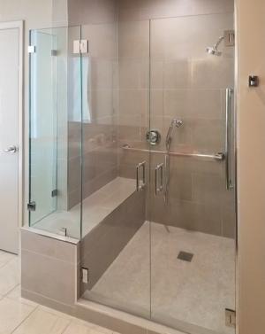 Schicker AG93PHX Saloon Frameless Shower Enclosure