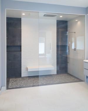 Schicker Frameless Stationary Shower Panel