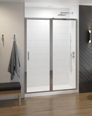 Fleurco Elera In-line Framed Pivot Shower Door, Chrome