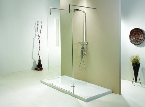 Evolution 6' One Wall Single Panel Walk-In Shower