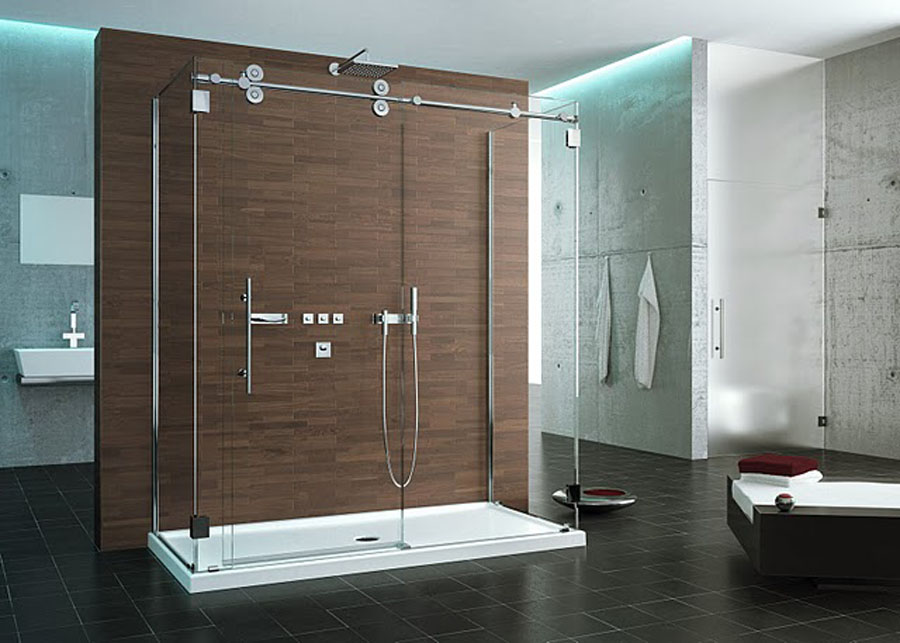 contemporary bathroom doors kinetic series from fleurco images gallery schicker 12437 | Kinetik KWT372